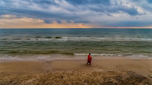 monk on the beach2